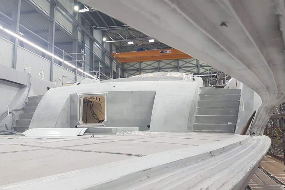 Project 18151 Moving in the Right Direction at the Heesen Shipyard.